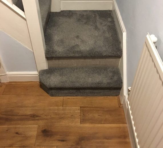 laminate flooring with carpet covering staircase case study wirral