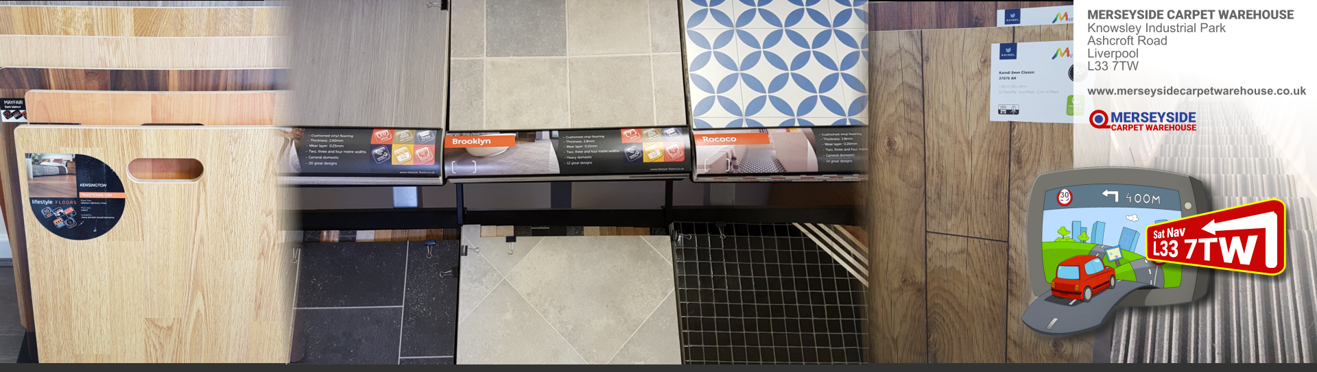 budget laminated floor banner for Liverpool and Knowsley